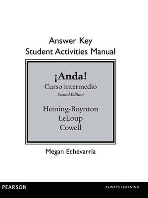 SAM Answer Key for !Anda! Curso intermedio (Paperback)