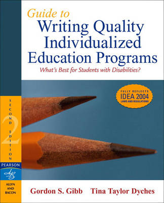 Guide to Writing Quality Individualized Education Programs (Paperback)