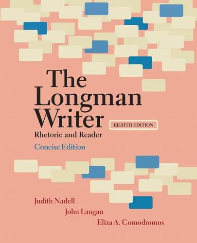 Longman Writer, The, Concise Edition: Rhetoric and Reader (Paperback)