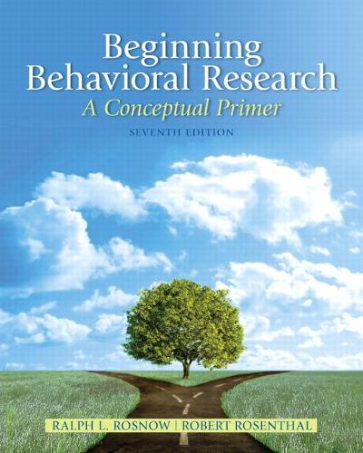 Beginning Behavioral Research: A Conceptual Primer: United States Edition (Hardback)