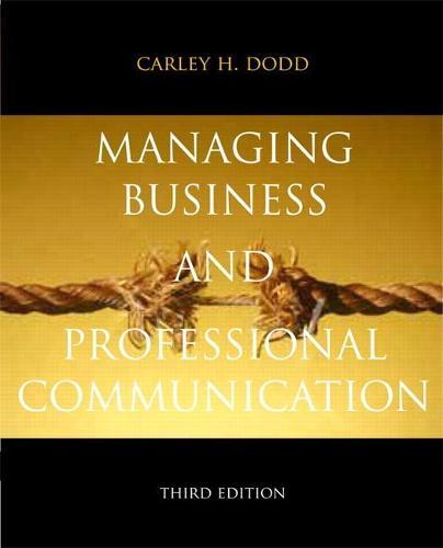 Managing Business & Professional Communication (Paperback)