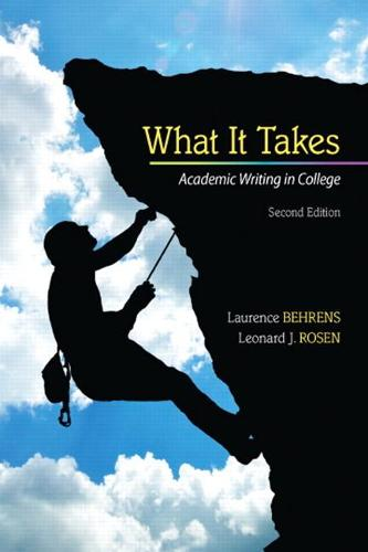What it Takes: Academic Writing in College (Paperback)