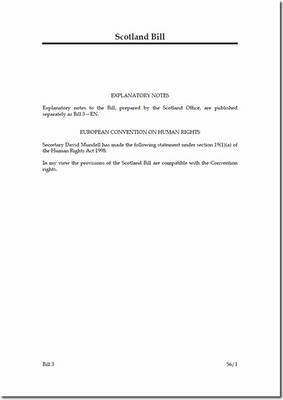 Scotland Bill - House of Commons Bills (Paperback)