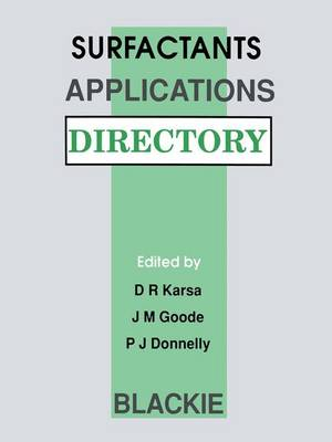Surfactants Applications Directory (Hardback)