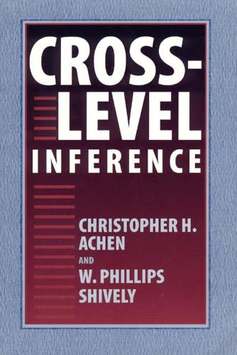 Cross-level Inference (Hardback)