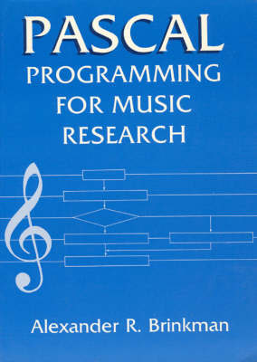 PASCAL Programming for Music Research (Paperback)