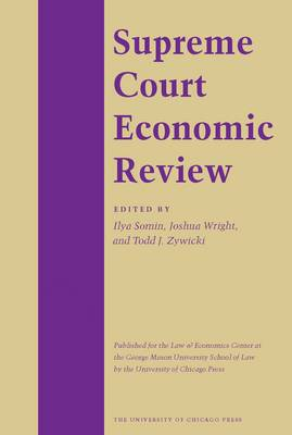 The Supreme Court Economic Review: v. 7 - Crime and Justice: A Review of Research v. 7 (Hardback)