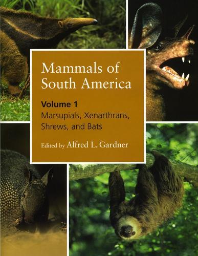 Mammals of South America, Volume 1: Marsupials, Xenarthrans, Shrews, and Bats (Hardback)
