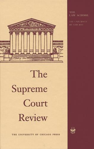 The Supreme Court Review 2000 - Supreme Court Review (Hardback)