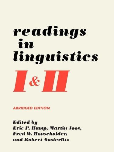 Readings in Linguistics: 2v (Paperback)