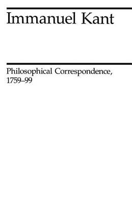 Philosophical Correspondence, 1759-1799 (Paperback)