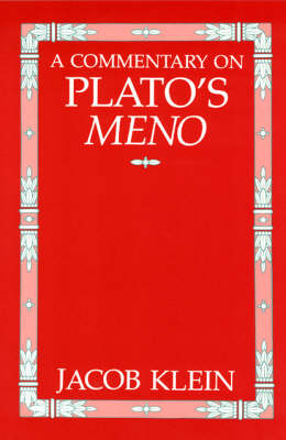 "A Commentary on Plato's ""Meno"" (Paperback)"
