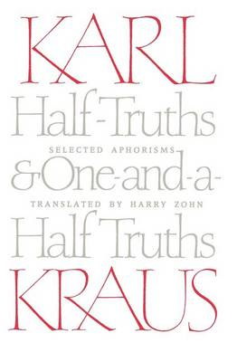 Half-Truths and One-and-a-Half Truths: Selected Aphorisms (Paperback)