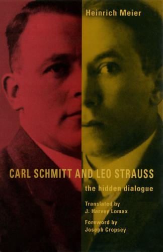 Carl Schmitt and Leo Strauss: The Hidden Dialogue (Paperback)
