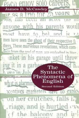 The Syntactic Phenomena of English (Paperback)