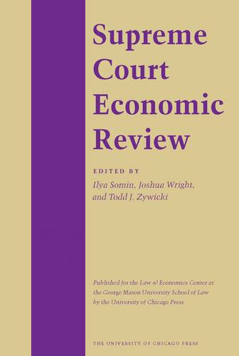 The Supreme Court Economic Review: v. 16 (Hardback)