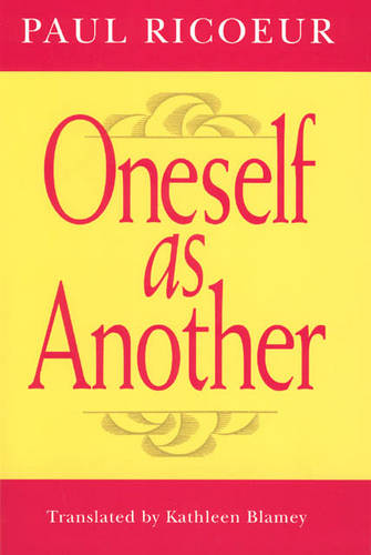 Oneself as Another (Paperback)