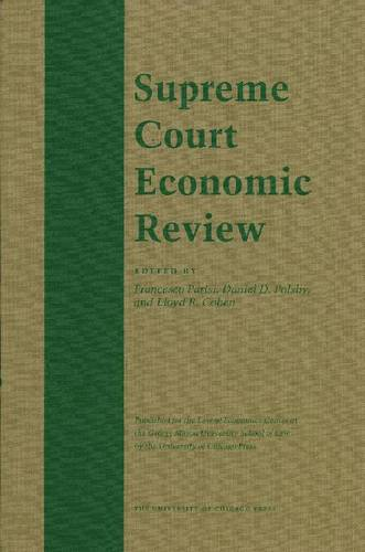 The Supreme Court Economic Review: v. 19 - Supreme Court Economic Review (Hardback)