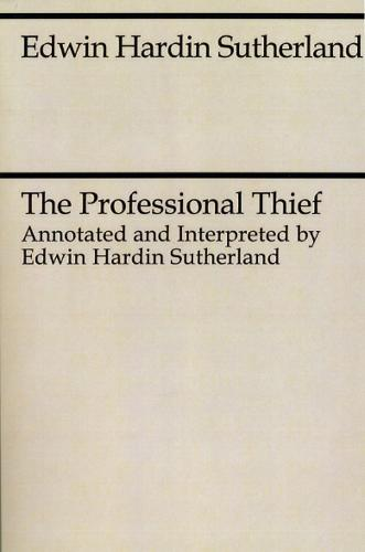 The Professional Thief (Paperback)