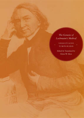 The Genesis of Lachmann's Method (Hardback)