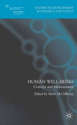 Human Well-Being: Concept and Measurement - Studies in Development Economics and Policy (Hardback)