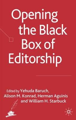 Opening the Black Box of Editorship (Hardback)