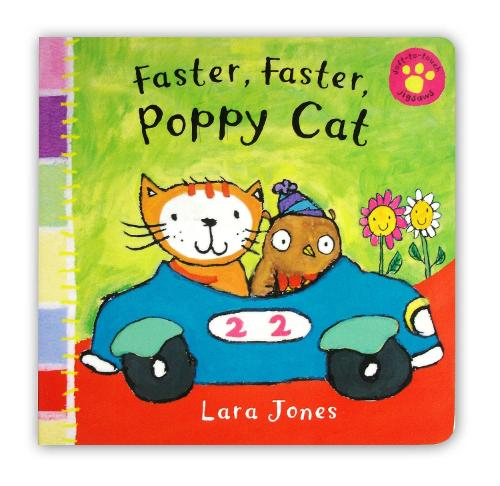 Faster, Faster, Poppy Cat (Board book)