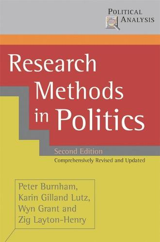 Research Methods in Politics - Political Analysis (Hardback)