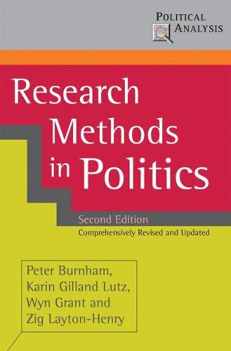 Research Methods in Politics - Political Analysis (Paperback)