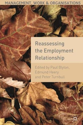 Reassessing the Employment Relationship - Management, Work and Organisations (Paperback)