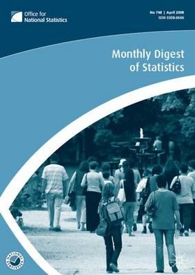 Monthly Digest of Statistics: January 2010 v. 769 (Paperback)