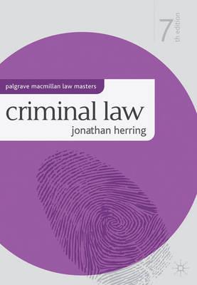 Criminal Law - Palgrave Macmillan Law Masters (Paperback)
