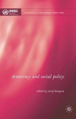 Democracy and Social Policy - Social Policy in a Development Context (Hardback)