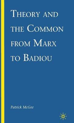 Theory and the Common from Marx to Badiou (Hardback)