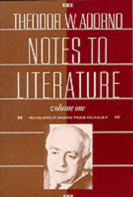 Notes to Literature - European Perspectives: A Series in Social Thought and Cultural Criticism (Paperback)