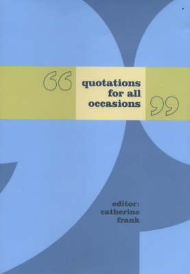 Quotations for All Occasions (Hardback)