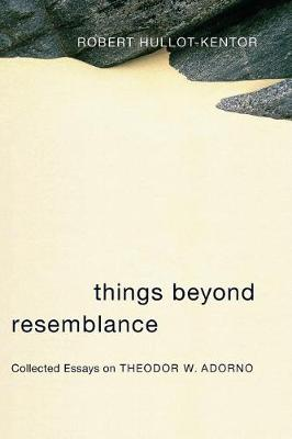 Things Beyond Resemblance: Collected Essays on Theodor W. Adorno - Columbia Themes in Philosophy, Social Criticism, and the Arts (Paperback)