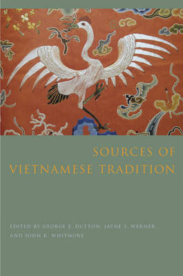 Sources of Vietnamese Tradition - Introduction to Asian Civilizations (Paperback)