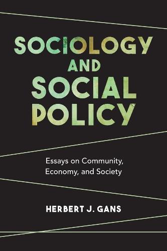 Sociology and Social Policy: Essays on Community, Economy, and Society (Hardback)