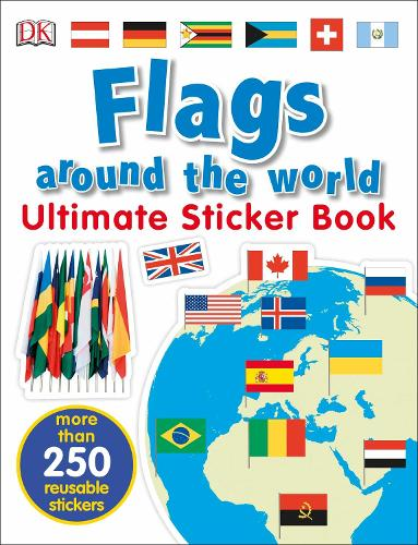Flags Around the World Ultimate Sticker Book (Paperback)