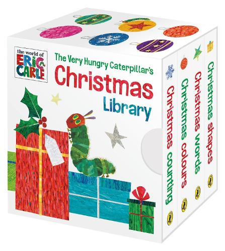 The Very Hungry Caterpillar's Christmas Library (Board book)