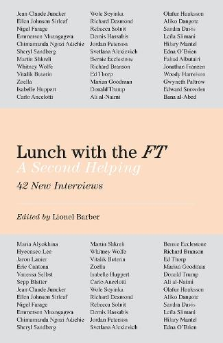 Lunch with the FT: A Second Helping (Hardback)
