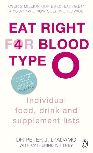Eat Right for Blood Type O: Maximise your health with individual food, drink and supplement lists for your blood type - Eat Right For Blood Type (Paperback)