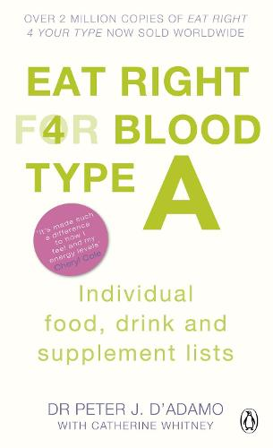Eat Right for Blood Type A: Maximise your health with individual food, drink and supplement lists for your blood type - Eat Right For Blood Type (Paperback)