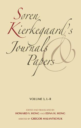 Soren Kierkegaard's Journals and Papers, Volume 3: L-R (Hardback)