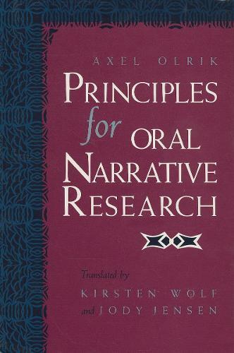 Principles for Oral Narrative Research (Hardback)