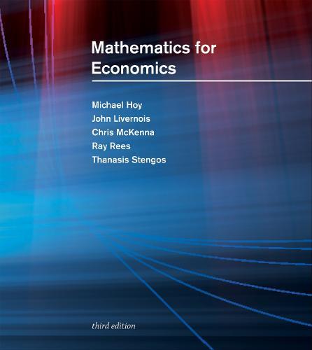 Mathematics for Economics - The MIT Press (Hardback)