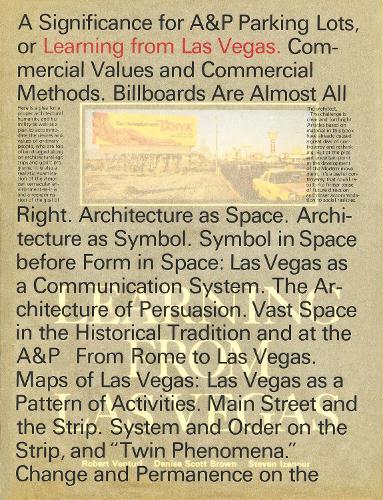 Learning From Las Vegas - The MIT Press (Hardback)