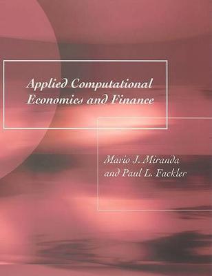 Applied Computational Economics and Finance - The MIT Press (Paperback)