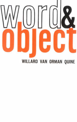 Word and Object - The MIT Press (Paperback)